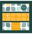 abstract gray yellow rounded squares vector image
