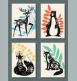 animals posters scandinavian modern forest