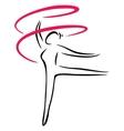 Artistic gymnastics vector image vector image