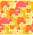 autumn stuff pattern vector image vector image