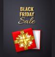 black friday sale golden glitter sparkleopen red vector image