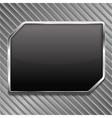 black metallic frame vector image vector image