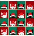 Black White Rabbit Cat Chess board Christmas vector image vector image