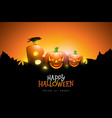 boo happy halloween design with typography vector image