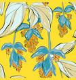 botanical summer print art repetiotion design vector image vector image