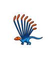 cartoon spinosaurus therapod dinosaur icon vector image vector image