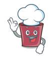 chef hot chocolate character cartoon vector image
