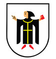 city coat arms munich germany vector image vector image