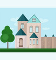 classic architecture facade of a castle vector image vector image
