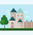 classic architecture facade of a castle vector image