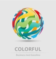 Colorful ball business icon vector image