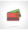 Credit cards flat color icon vector image vector image