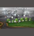cyclone hit the rural village vector image vector image