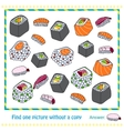 different types of sushi - game vector image