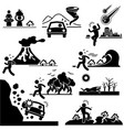 disaster doomsday catastrophe stick figure vector image