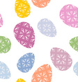 Easter seamless pattern Easter egg background vector image