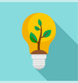eco bulb icon flat style vector image