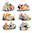 family portraits mother and father son and vector image vector image