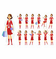 fashionable woman - cartoon people vector image vector image