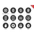finger-print icons on white background vector image vector image