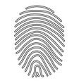 fingerprint the black color icon vector image