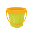 flat icon of small plastic bucket for vector image