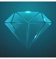 glass diamond icon Eps10 vector image