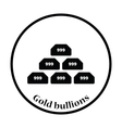 Gold bullion icon vector image vector image