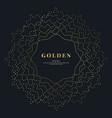 gold dotted wavy mandala on black background vector image