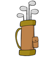 Golf Bag Full Of Clubs vector image vector image