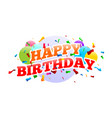 happy birthday surprise party card design vector image