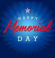 happy memorial day usa blue stripes vector image