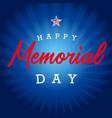 happy memorial day usa blue stripes vector image vector image