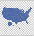 high detail usa map with federal states flat vector image vector image