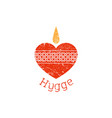 hygge stamp vector image vector image