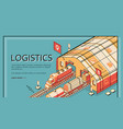industrial logistics company website vector image vector image