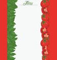 italian flag vertical menu template vector image
