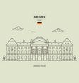 japanese palace in dresden vector image vector image