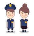 kids wearing police cop costume vector image vector image