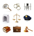 Law Legal Icons Set vector image vector image