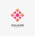 logo square ornament gradient colorful vector image vector image
