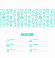 medicine concept with thin line icons vector image vector image