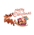 Merry Christmas greeting card with Santa Claus on vector image vector image