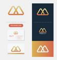 mountain creative logo premium 2 vector image vector image