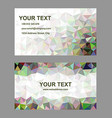 Multicolor abstract business card template design vector image vector image