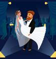 newlywed couple first dance vector image