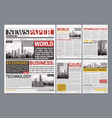 newspaper template design realistic poster vector image