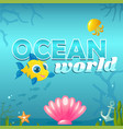 ocean world with elements vector image