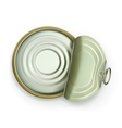 Open tin can top view icon vector image