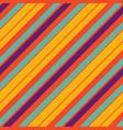 orange pop art colored striped diagonal fabric vector image vector image